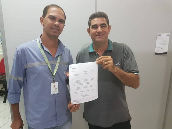 Presidente Paulinho da Mec Céu recebe relatório com o número de funcionários da Cerradinho Bio