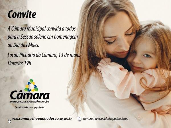 Câmara irá homenagear às Mães na próxima Segunda-Feira dia 13 de Maio