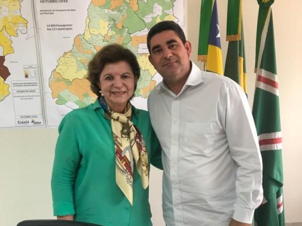 Presidente Paulinho da Mec  Céu esteve reunido com Secretária do Desenvolvimento Social Lucia Vânia