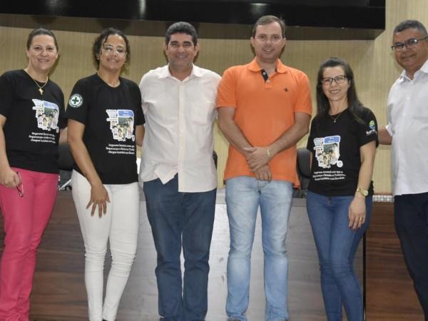 Com iniciativa da Ver.Cleide Brasil, alunos recebem palestra sobre Segurança e Saúde nas Escolas