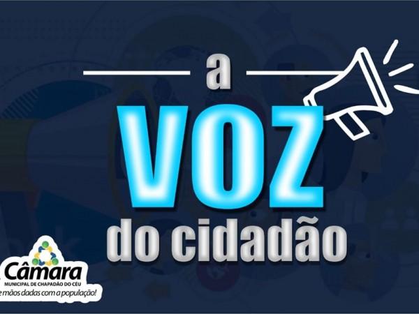 A Voz do Cidadão – Diego Batista Costa Silva solicita asfalto no Campo Verde